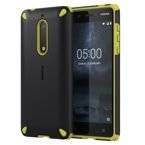 Etui Nokia CC-502 Rugged Impact Case do Nokia 5 Lemon Black (czarno-zielone)