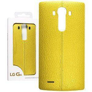 LG CPR-110 Leather Battery Cover LG G4 (żółty)