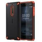 Etui Nokia CC-502 Rugged Impact Case do Nokia 5 Orange Black (czarno-pomarańczowe)