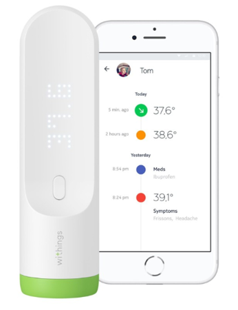 Bezdotykowy termometr Withings Thermo z hotspot